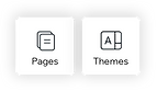 pages and themes icon to customize a Wix site through the mobile app.