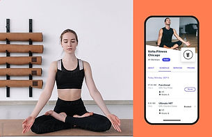 Image of yoga studio website