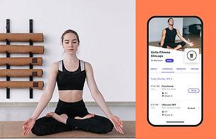 Image of yoga studio website