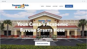 Treasure Kids Academy website homepage built by RedFork.