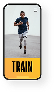 Wix Fitness mobile app view of gym website