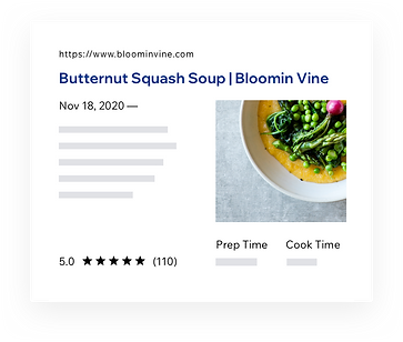 SERP results for Butternut Squash Soup recipe