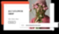 Custom domain name for an online flower shop.