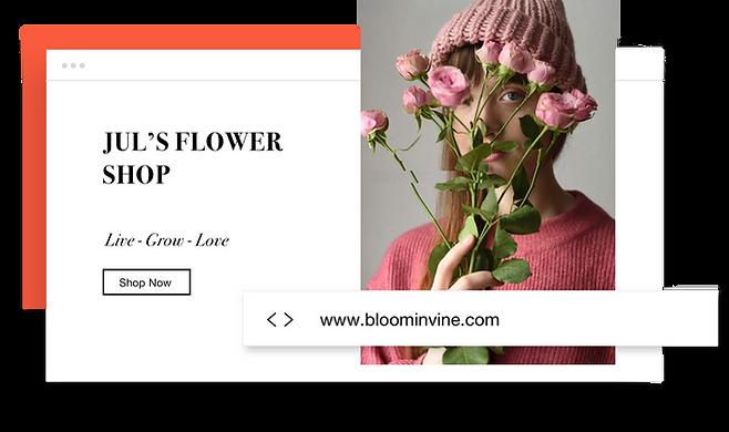 Domínio personalizado para uma loja virtual de flores