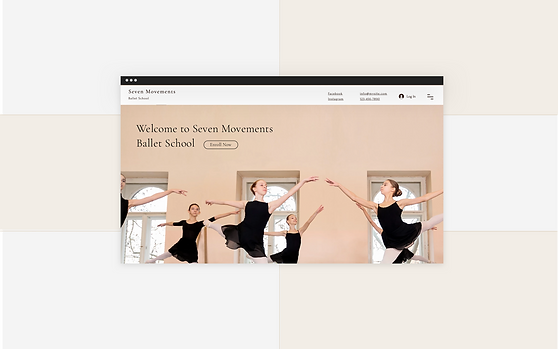 Image of a Ballet School website with the client management tool from Wix Bookings