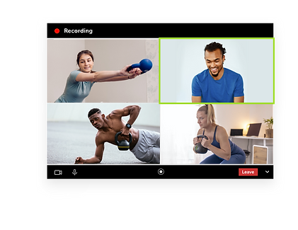 Kettlebell training via video conferencing and VOD