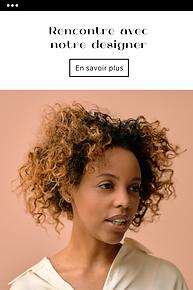 Template d'une campagne d'e-mail marketing présentant le portrait d'une femme
