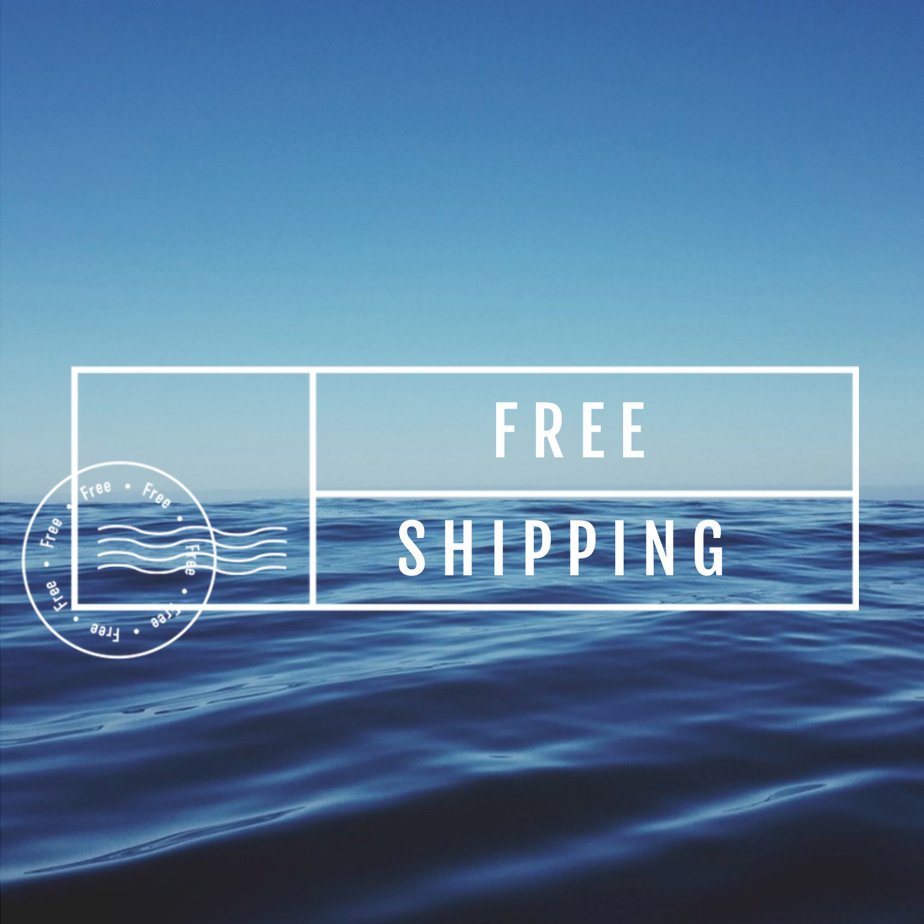 Tell site visitors that shipping is free with a social graphic