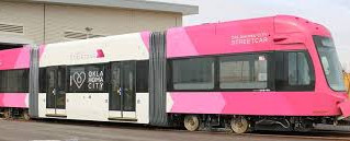 Streetcars taking a spin