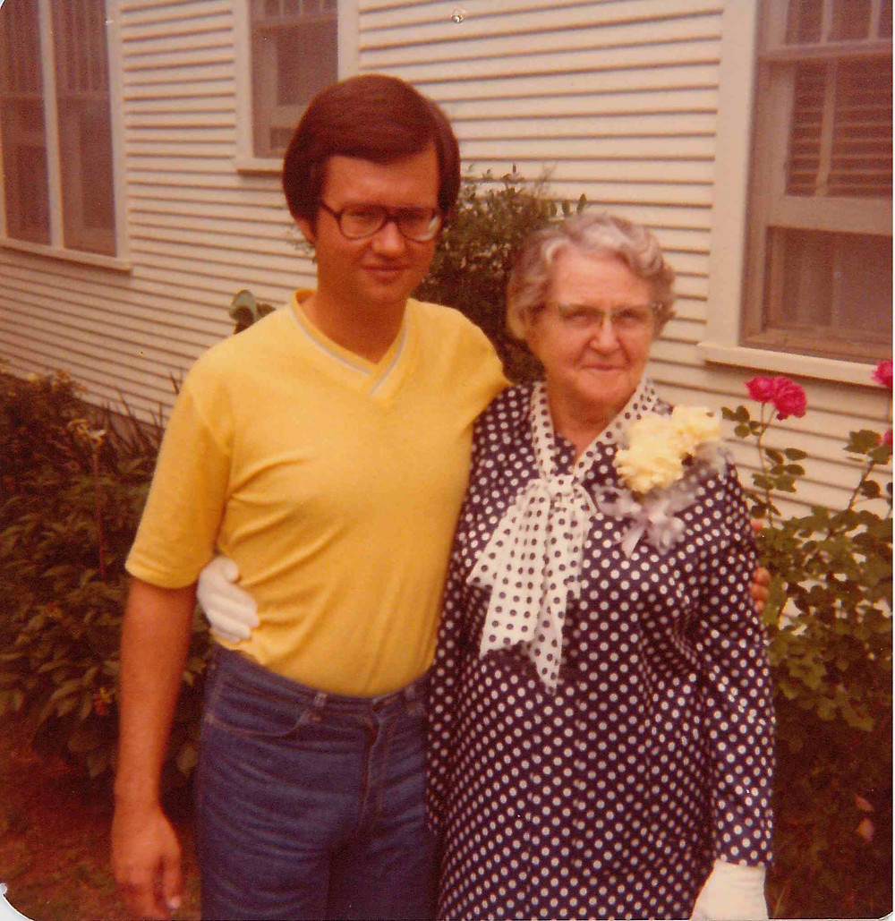 Bob Blackburn, historian and author, pictured with his grandmother