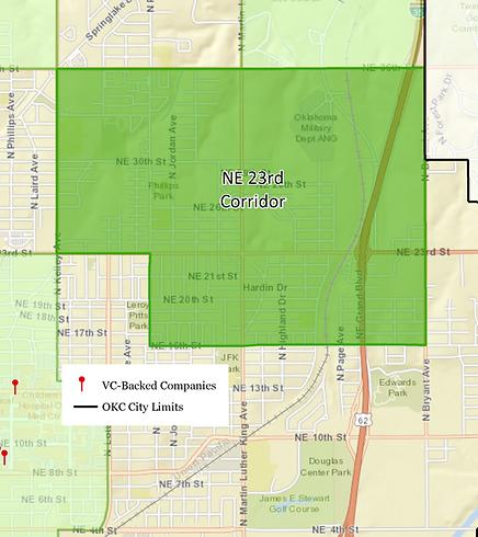 NE 23rd Street Corridor map.png