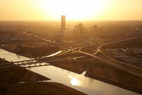 Oklahoma City I-235 Freeway and I-40 Freeway