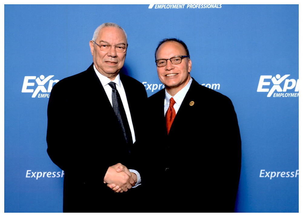 Chief Gary Batton, Choctaw Nation, with Colin Powell