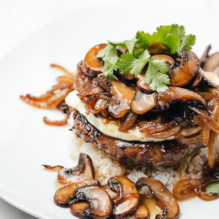 Tropical and hawaiin food dish