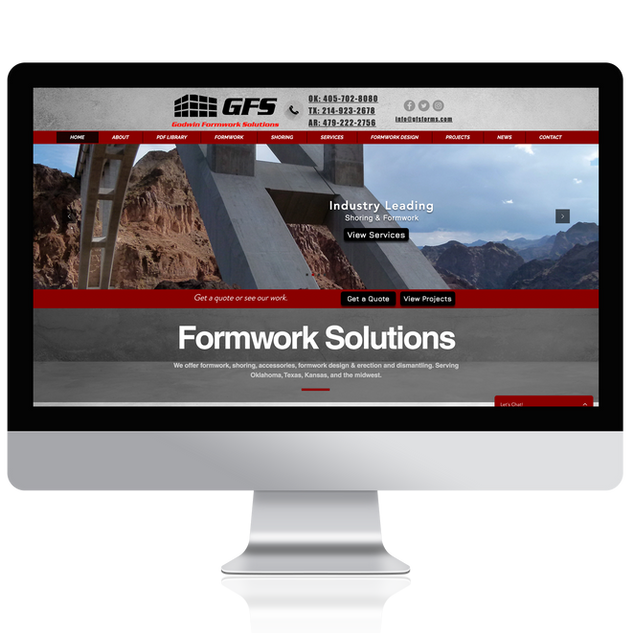 GFS Construction Web Design