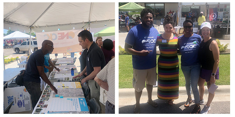 Representatives from The Alliance attend the oNE OKC street festival