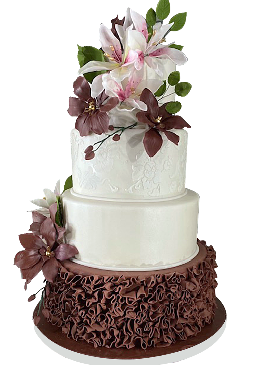 Custom Wedding cake from A Love for Cakes based in Queens, New York