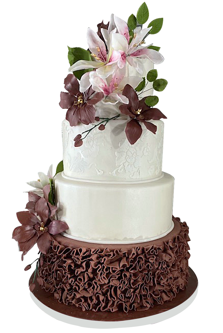 Custom wedding cake from A Love for Cakes based in New York