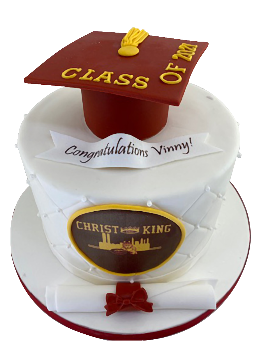Custom Graduation cakes from A Love for Cakes based in Queens, New York