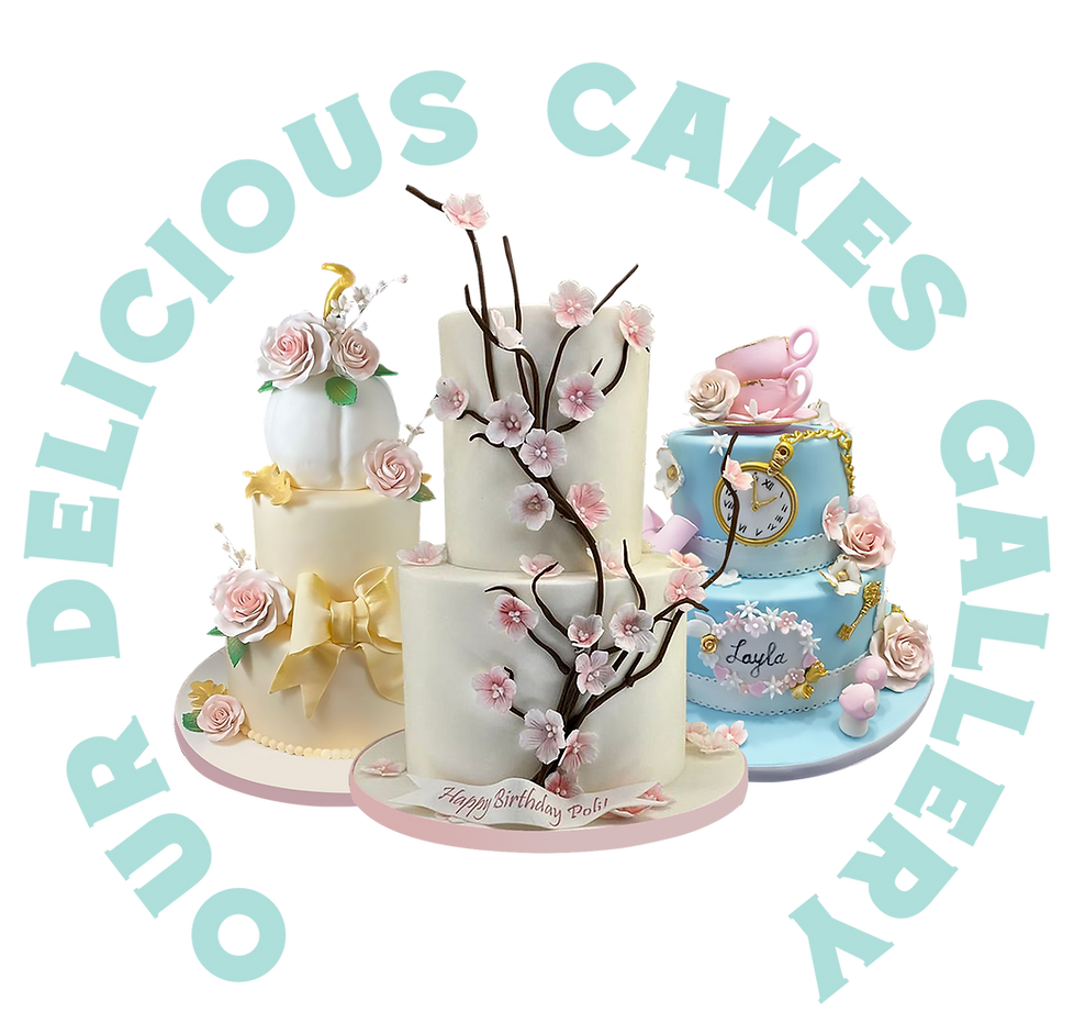 Our Delicious Cakes Gallery with Wedding Cakes and Birthday Cakes