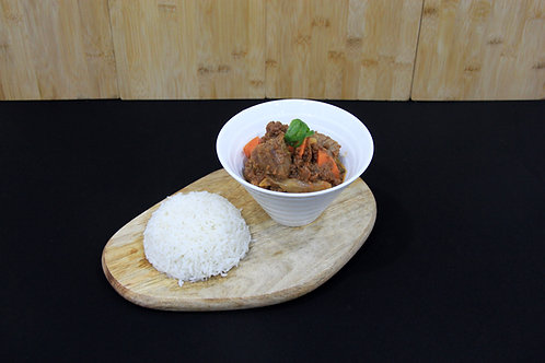 Beef Stew with Steamed Rice