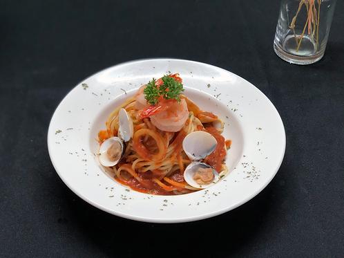 Spicy Seafood Marinara Spaghetti
