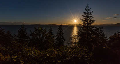 chuckanut drive sunset