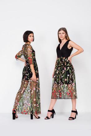 Black Persephone and Black Gardenia Dress