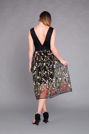 Gardenia Dress in Black