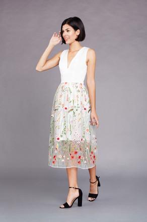 Gardenia Dress in White