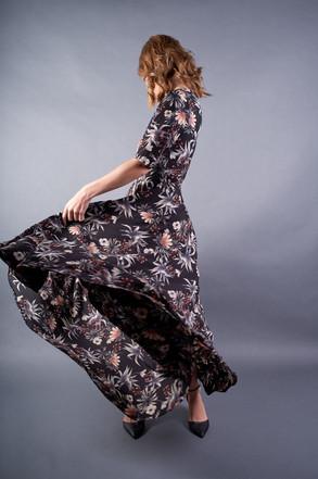 Dark Botanic Gown