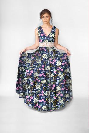 Butterfly Garden Maxi Dress