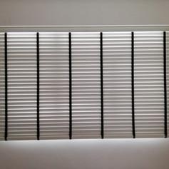 White PVC Venetian Blinds 1 Piece Half Height