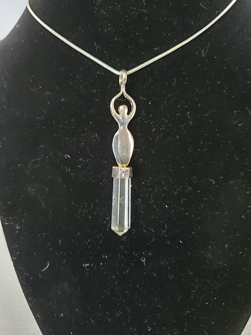 Clear Quartz with Women Neckless