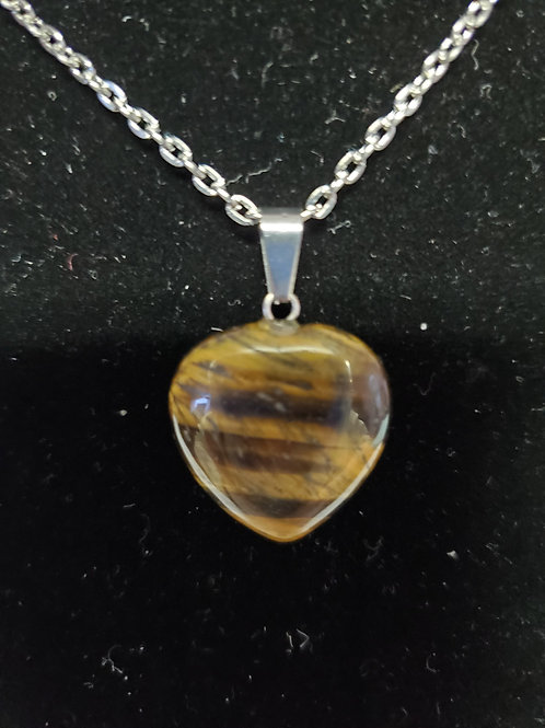 Tiger's Eye Heart Neckless