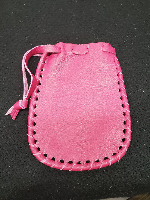 Pink Leather Pouch