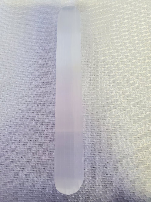 Selenite Half Wand