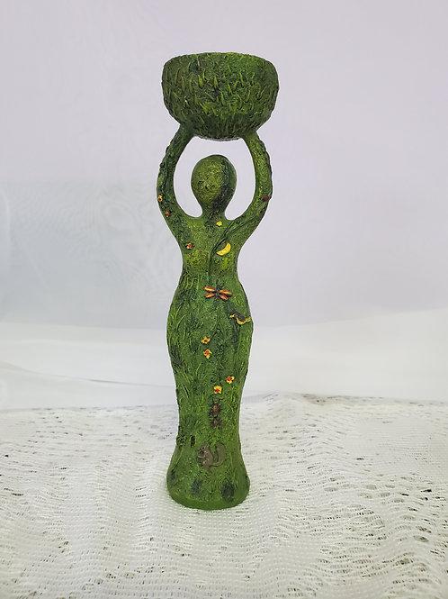 Green Goddess Incense Holder
