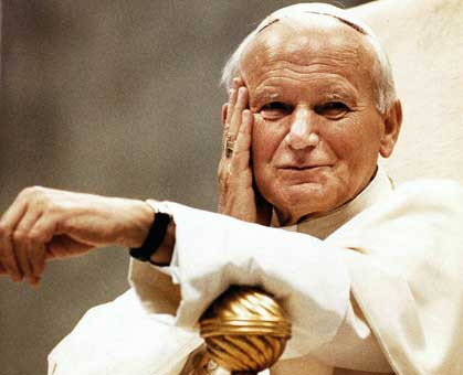 John Paul II Smirking From Heaven