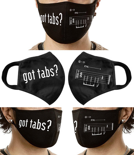 got tabs? Triple-layer Cloth Face Mask