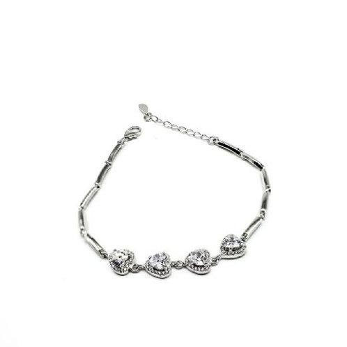 Gleam Diamond Hearts Silver