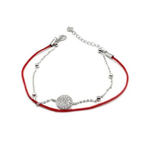 Gleam Red Lap Marge Bracelet