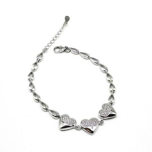 Gleam Birgitte Hearts Bracelet