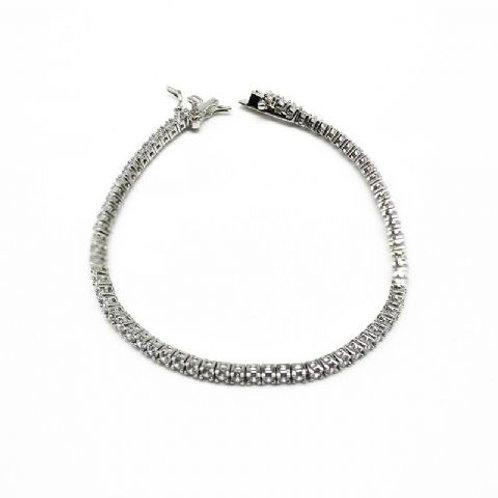 Gleam Silver Zirconia Belt