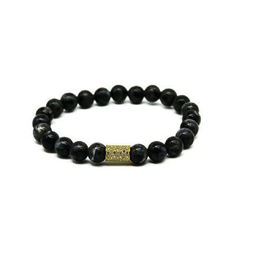 Gleam Spectrolit Gold Long Bracelet