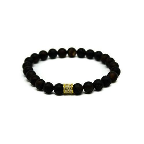 Gleam Black Agate Gold Short Bracelet