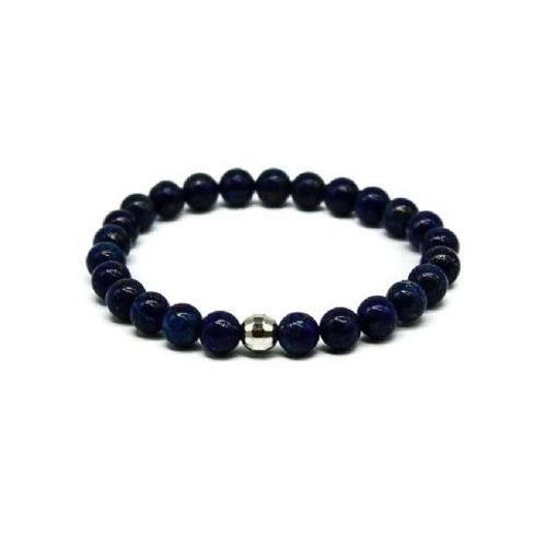 Gleam Lapis Silver Drop Bracelet