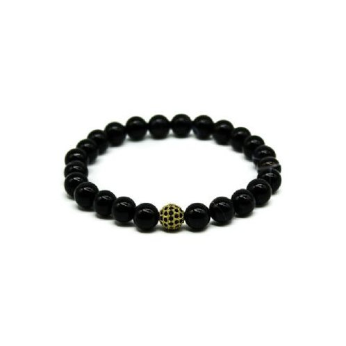 Gleam Strip Onyx Gold Durable Bracelet