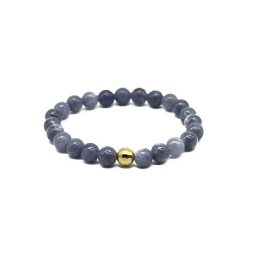 Gleam Aquamarine Gold Drop Bracelet
