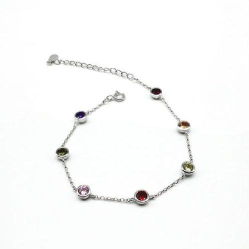 Gleam Rainbow Stones Bracelet